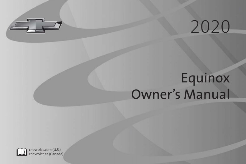 2019 Chevrolet Equinox Owner Manual Operator User Instruction Guide Book