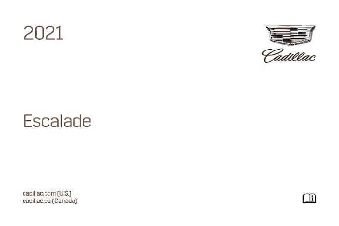 2021 Cadillac Escalade Owner's Manual Image