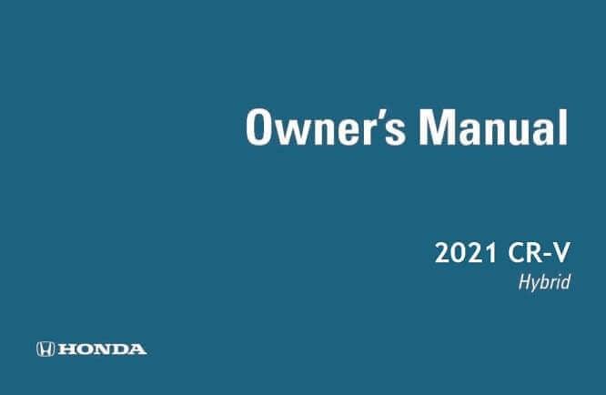 2021 Honda CR-V Hybrid Owner's Manual Image