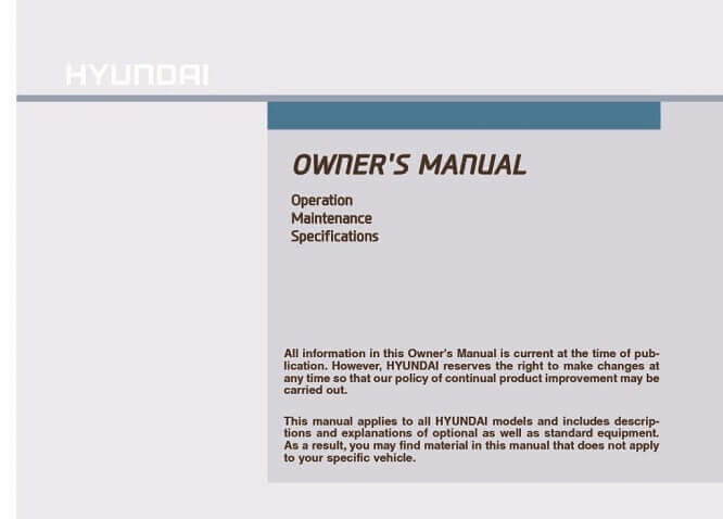 2021 Hyundai Tucson Owner's Manual Image