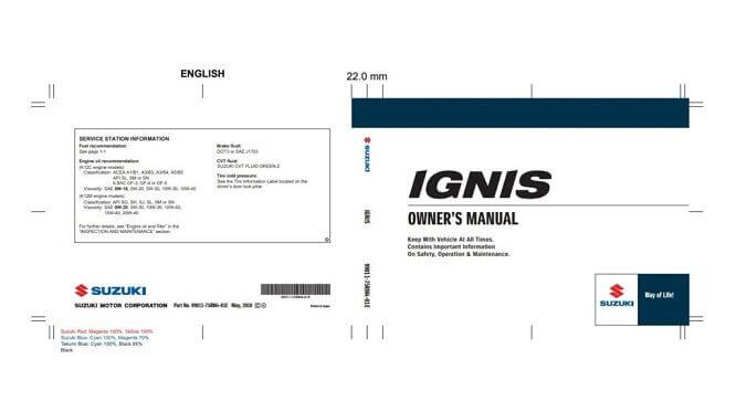 2021 Suzuki Ignis Owner's Manual Image