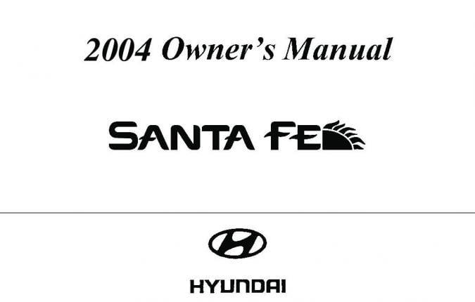 2004 Hyundai Santa-Fe Owner's Manual Image