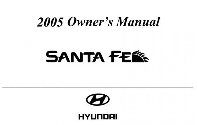 2005 Hyundai Santa Fe Owner's Manual Image