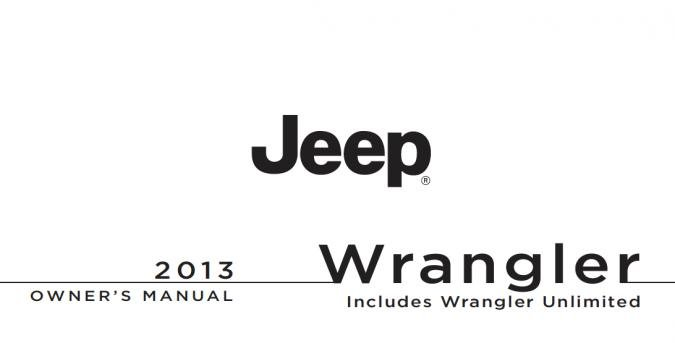 2013 Jeep Wrangler (incl. Unlimited) Owner's Manual Image