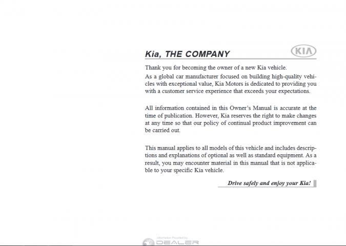 2015 Kia Optima Owner's Manual Image