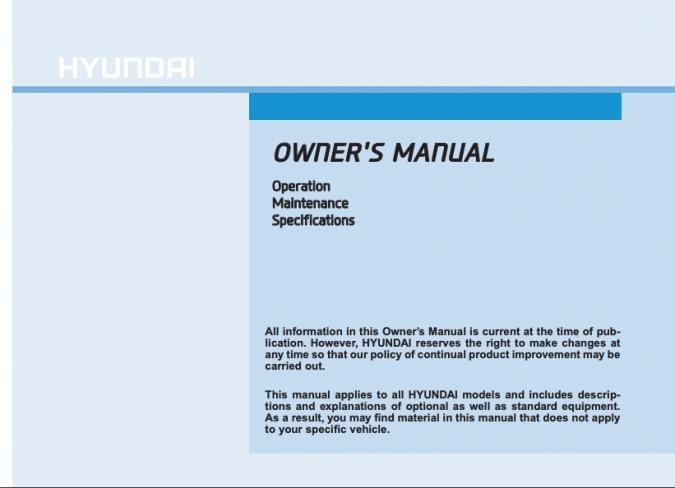 2016 Hyundai Santa Fe Owner's Manual Image