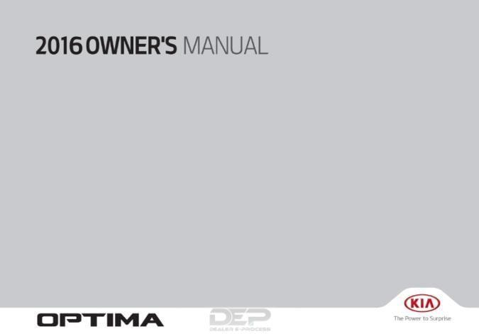 2016 Kia Optima Owner's Manual Image