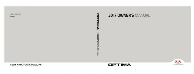 2017 Kia Optima PHEV Owner's Manual Image