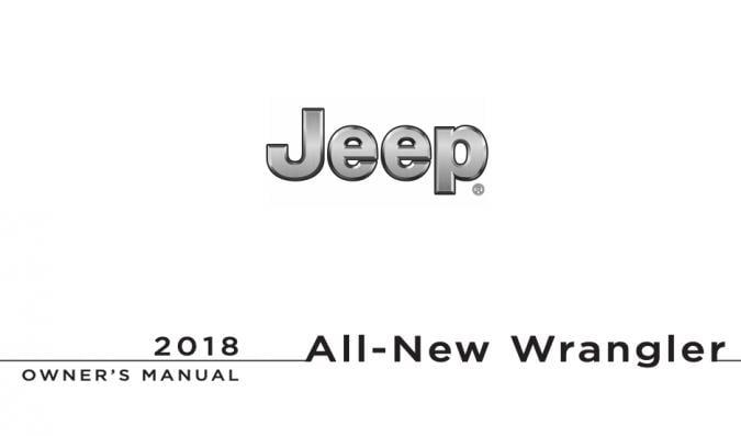 2018 Jeep Wrangler JK Owner's Manual Image