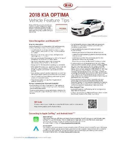 2018 Kia Optima Owner's Manual Image