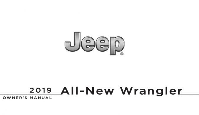 2019 Jeep Wrangler Owner's Manual Image