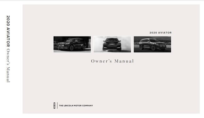 2021 Lincoln Aviator Owner's Manual Image